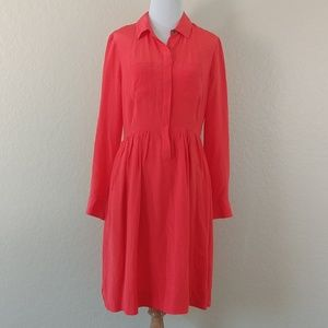 J. Crew Blythe Silk Shirt Dress